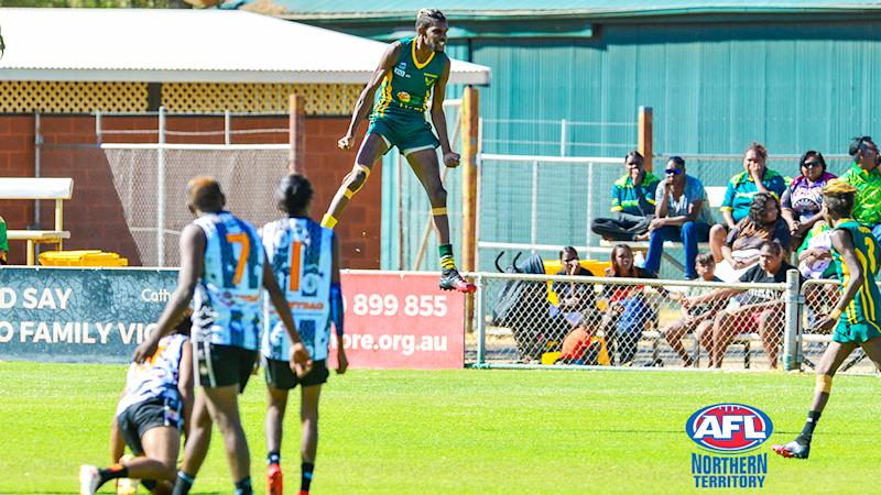 Shane Inkamala, pictured here in action on the footy field.