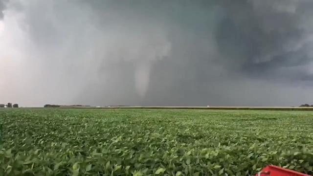 <p>A tornado is seen near Pella, Marion County, Iowa, U.S. July 19, 2018 in this still image obtained from a video on social media. (Photo: Brandyn Van Zante/Twitter/via Reuters) </p>