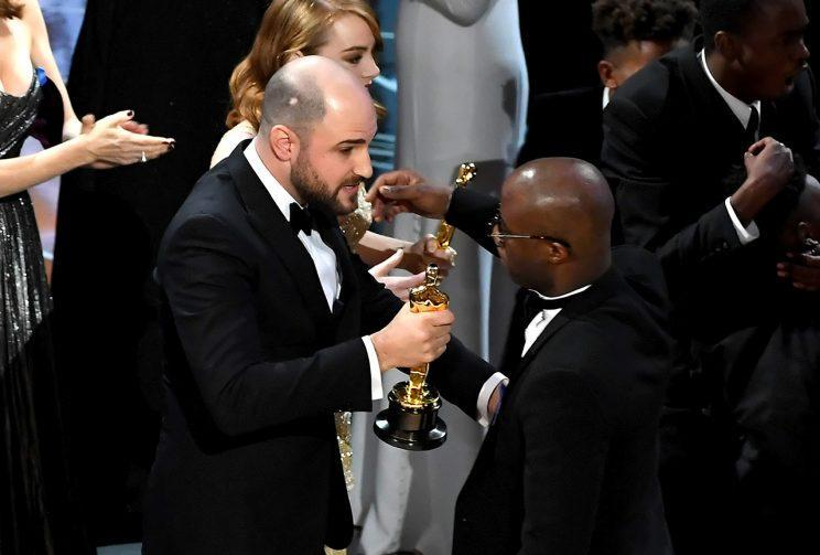 Class act?… Jordan Horowitz takes charge after Best Picture gaffe – Credit: Getty