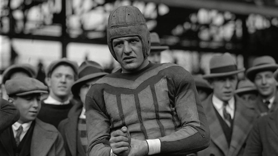 Mandatory Credit: Photo by Everett/Shutterstock (10277418a)Red Harold Grange, (1903-1991) in December 1925, after he left the University of Illinois to play professional football for the Chicago Bears.