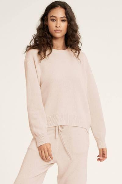 """<p><strong>Naked Cashmere</strong></p><p>nakedcashmere.com</p><p><strong>$295.00</strong></p><p><a href=""""https://go.redirectingat.com?id=74968X1596630&url=https%3A%2F%2Fwww.nakedcashmere.com%2Fproducts%2Fkaia-crew-sweater&sref=https%3A%2F%2Fwww.goodhousekeeping.com%2Fclothing%2Fg35044369%2Fbest-matching-sweatsuits-women%2F"""" rel=""""nofollow noopener"""" target=""""_blank"""" data-ylk=""""slk:Shop Now"""" class=""""link rapid-noclick-resp"""">Shop Now</a></p><p>These pieces are a little on the pricey side, but the price tag accounts for the <strong>ultra relaxed and comfortable fit</strong>. The pullover sleeves end in ribbed cuffs, neckline and hem. The pullover and <a href=""""https://go.redirectingat.com?id=74968X1596630&url=https%3A%2F%2Fwww.nakedcashmere.com%2Fproducts%2Furi&sref=https%3A%2F%2Fwww.goodhousekeeping.com%2Fclothing%2Fg35044369%2Fbest-matching-sweatsuits-women%2F"""" rel=""""nofollow noopener"""" target=""""_blank"""" data-ylk=""""slk:matching Uri slouchy knit joggers"""" class=""""link rapid-noclick-resp"""">matching Uri slouchy knit joggers</a> should be hand-washed or dry cleaned only.<br></p>"""