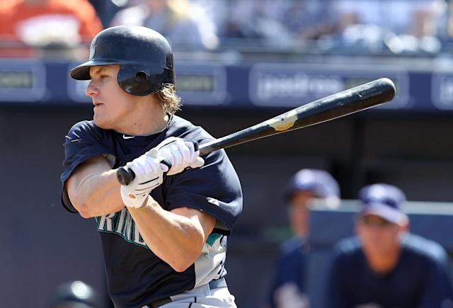 Eric Byrnes playing for the Seattle Mariners in 2010 (Photo by Christian Petersen/Getty Images)