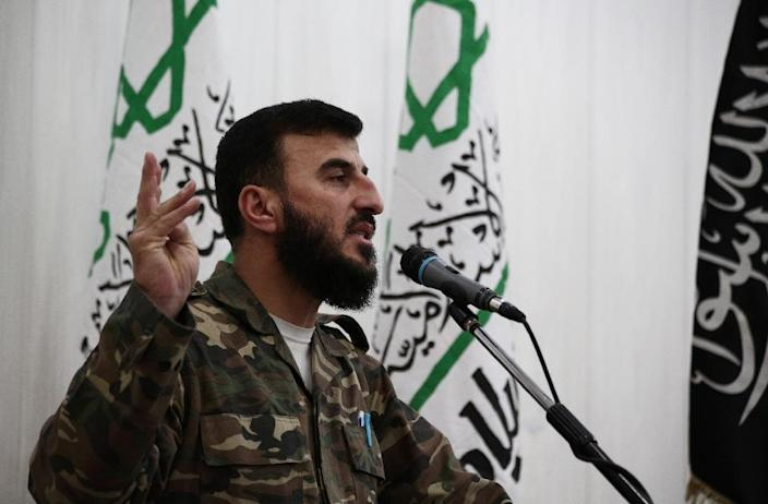 The arrests come less than a week after Syria's army claimed responsibility for the killing of rebel chief Zahran Alloush (pictured) (AFP Photo/Abd Doumany)