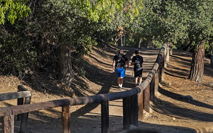 Day hikers enjoy the multi-use Stephens Ranch Spur Trail