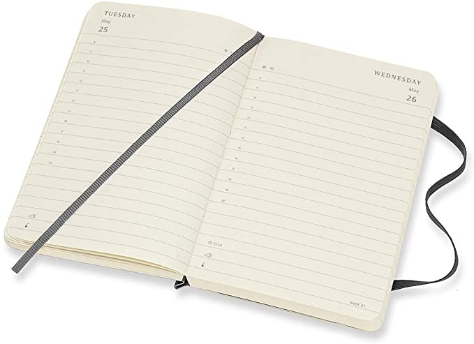 "<h3><a href=""https://amzn.to/2L4G3th"" rel=""nofollow noopener"" target=""_blank"" data-ylk=""slk:Moleskine 12-Month Daily Planner"" class=""link rapid-noclick-resp"">Moleskine 12-Month Daily Planner</a></h3>"