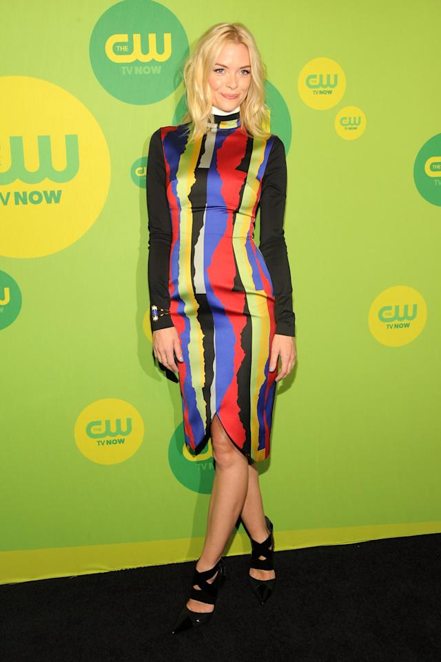 NEW YORK, NY - MAY 16:  Actress Jaime King attends The CW Network's New York 2013 Upfront Presentation at The London Hotel on May 16, 2013 in New York City.  (Photo by Ben Gabbe/Getty Images)