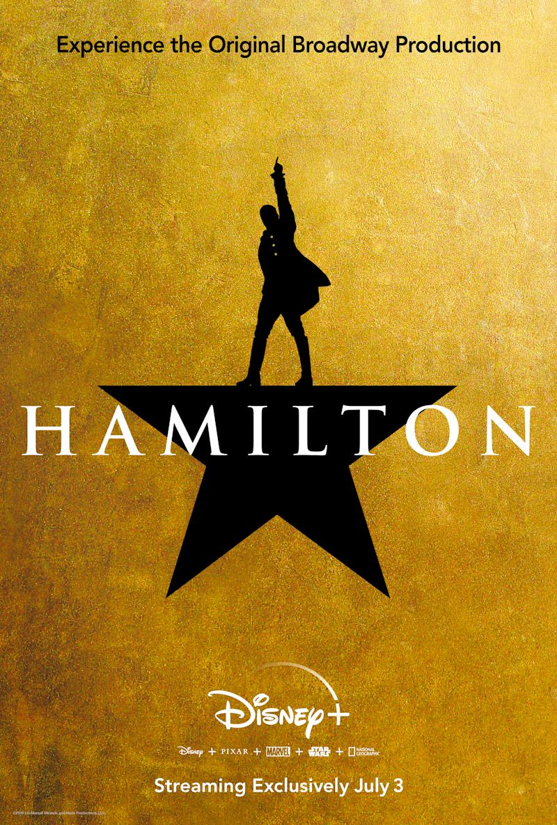 Key art for the Disney+ launch of <i>Hamilton</i>. (Disney+)
