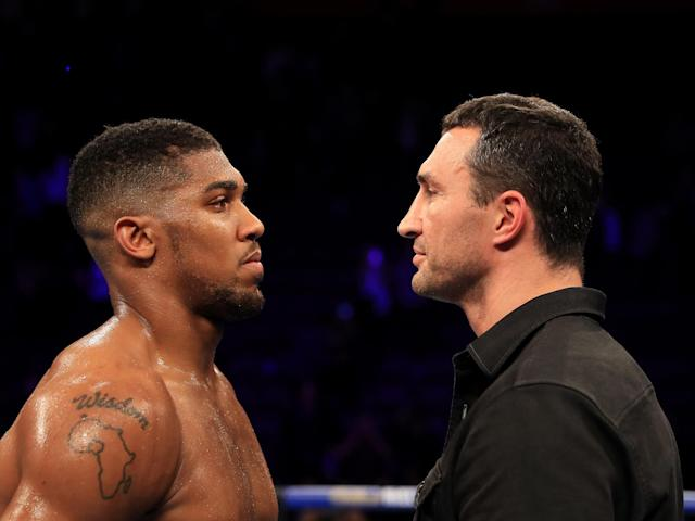 Joshua will face Klitschko at Wembley on Saturday: Getty