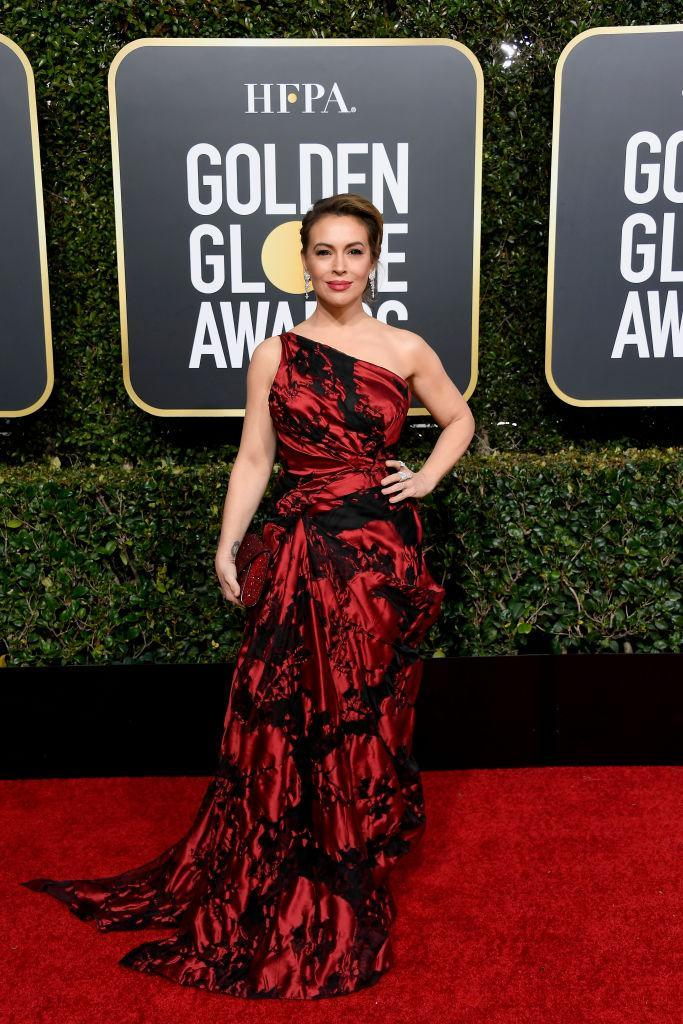 <p>Alyssa Milano attends the 76th Annual Golden Globe Awards at the Beverly Hilton Hotel in Beverly Hills, Calif., on Jan. 6, 2019. (Photo: Getty Images) </p>