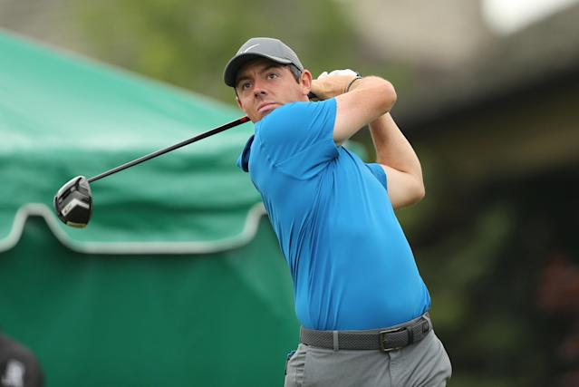 FILE PHOTO: Rory McIlroy tees off on the tenth hole during the second round of The Memorial golf tournament at Muirfield Village Golf Club in Dublin, Ohio, U.S., June 1, 2018. Mandatory Credit: Joe Maiorana-USA TODAY Sports/File Photo