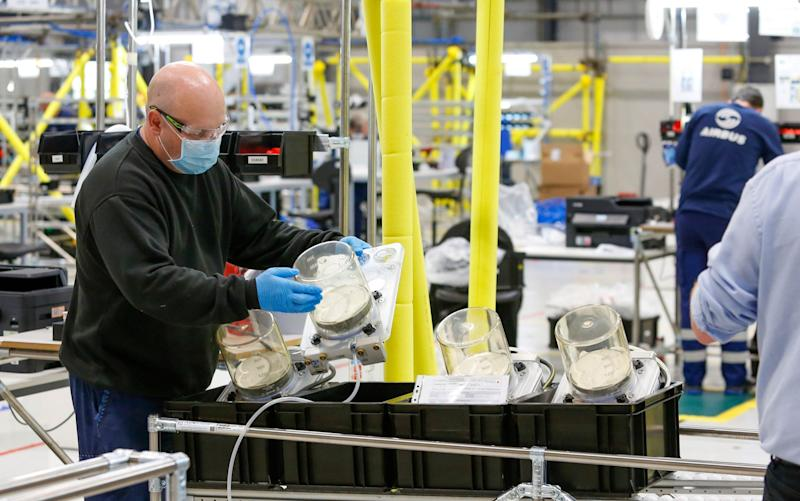 Industrial giants like Airbus, Siemens AG and Ford Motor Co. turned over production floors to the ventilator effort - Bloomberg