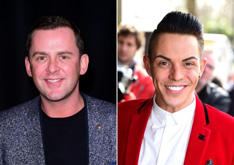 Scott Mills (left) and guest Bobby Norris, who told the jokes (PA)