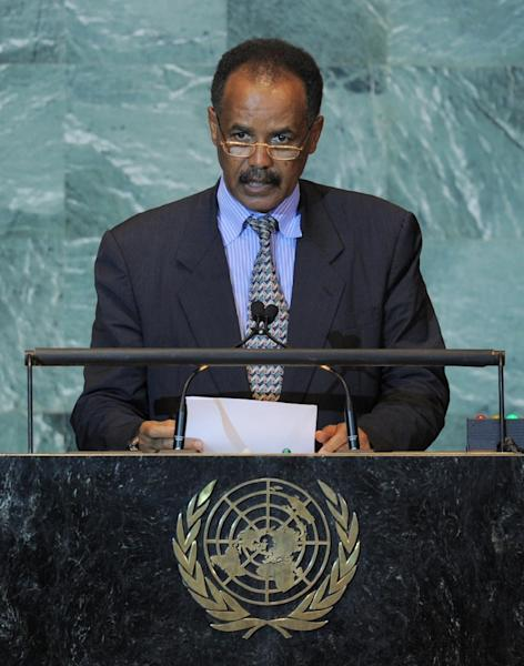 Eritrean President Isaias Afwerki has used the perceived threat from Ethiopia to justify oppression at home, say critics (AFP Photo/STAN HONDA)