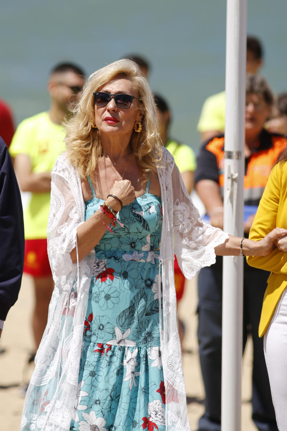 CHIPIONA, SPAIN - JUNE 14: Rosa Benito attends the beach season opening on June 14, 2019 in Chipiona, Spain. (Photo by Europa Press Entertainment/Europa Press via Getty Images)