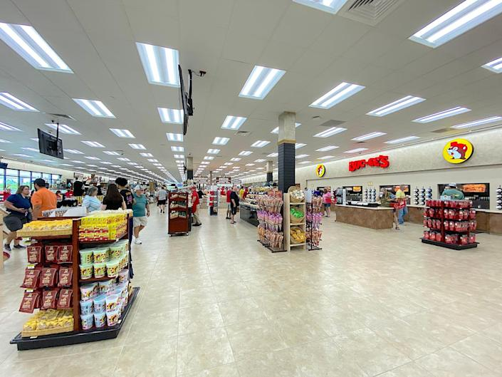 Inside a Florida Buc-ee's store.