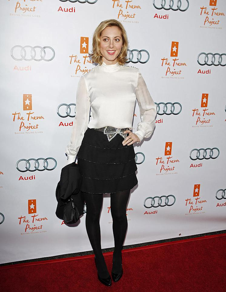"Susan Sarandon's daughter Eva Amurri opted for a cute top, bejeweled belt, tiered skirt, dark tights, and patent leather heels. Jean Baptiste Lacroix/<a href=""http://www.wireimage.com"" target=""new"">WireImage.com</a> - December 6, 2009"