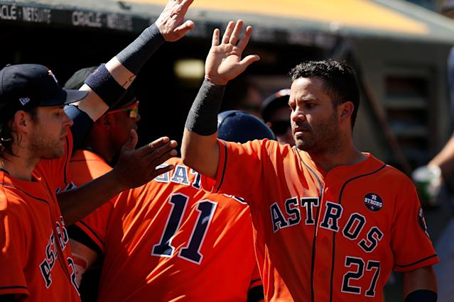 Jose Altuve and the Astros are within clinching distance in the AL West. (Getty Images)