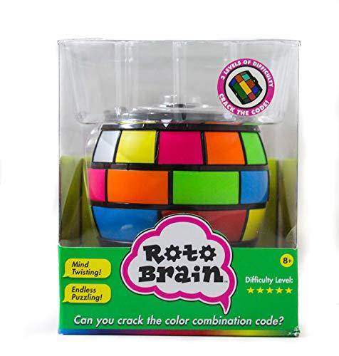 Roto Brain 3D Puzzle Sphere - Brain Teaser Puzzle Game to Fidget, Twist, Turn - 3 Levels of Difficulty, Crack The Code for This IQ | Memory Booster! for Kids and Adults, Age 8+ (Amazon / Amazon)
