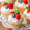 """<p>These light, airy cupcakes are topped with a pineapple frosting and fresh berries.</p><p><strong>Get the recipe at <a href=""""https://lilluna.com/angel-food-cupcakes/"""" rel=""""nofollow noopener"""" target=""""_blank"""" data-ylk=""""slk:Lil' Luna"""" class=""""link rapid-noclick-resp"""">Lil' Luna</a>.</strong></p><p><strong><a class=""""link rapid-noclick-resp"""" href=""""https://go.redirectingat.com?id=74968X1596630&url=https%3A%2F%2Fwww.walmart.com%2Fsearch%2F%3Fquery%3Dcupcake%2Bliners&sref=https%3A%2F%2Fwww.thepioneerwoman.com%2Ffood-cooking%2Fmeals-menus%2Fg35139389%2Fvalentines-day-cupcake-ideas%2F"""" rel=""""nofollow noopener"""" target=""""_blank"""" data-ylk=""""slk:SHOP CUPCAKE LINERS"""">SHOP CUPCAKE LINERS</a><br></strong></p>"""