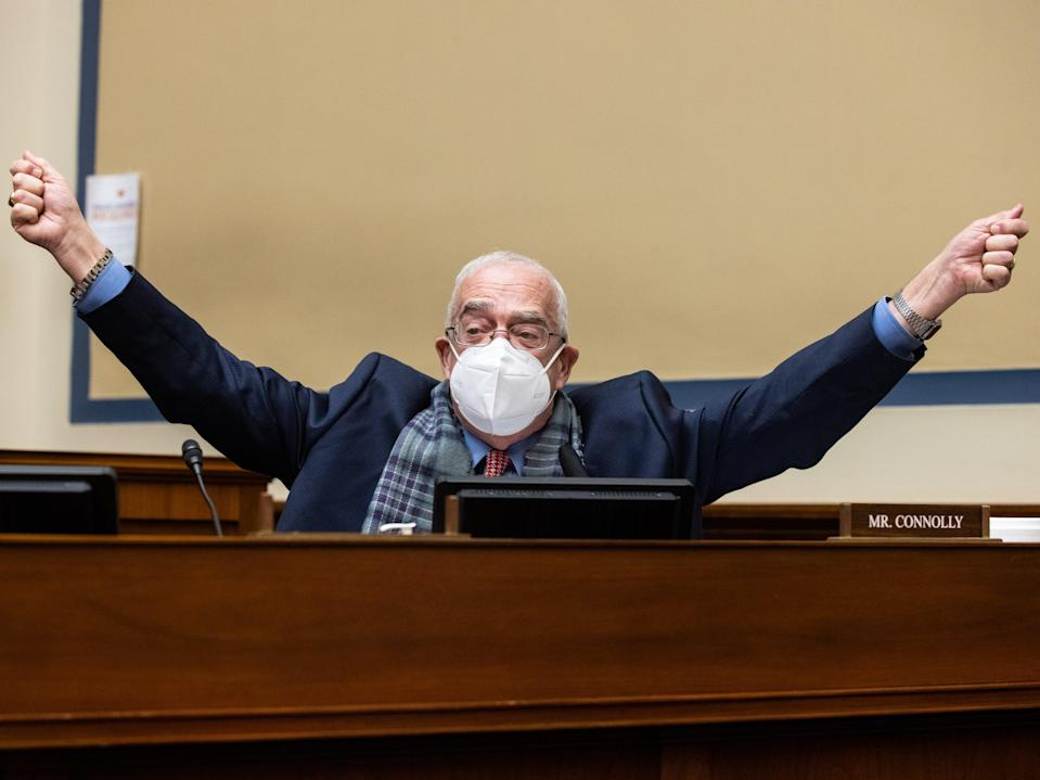 Gerry Connolly, speaks during a House Oversight and Reform Committee hearing February 24, 2021 on Capitol Hill in Washington, DC.  (Getty Images)