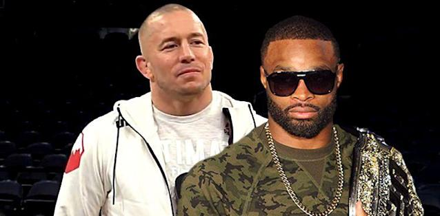Georges St-Pierre and Tyron Woodley