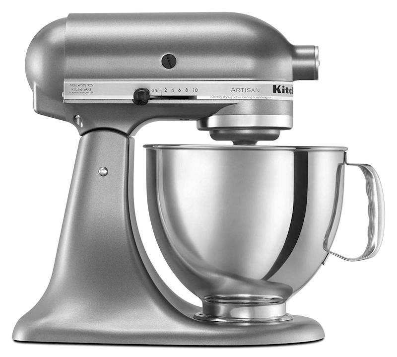 This new and improved KitchenAid stand mixer has attachments that do everything from making breadcrumbs to grinding meat. (Photo: Amazon)