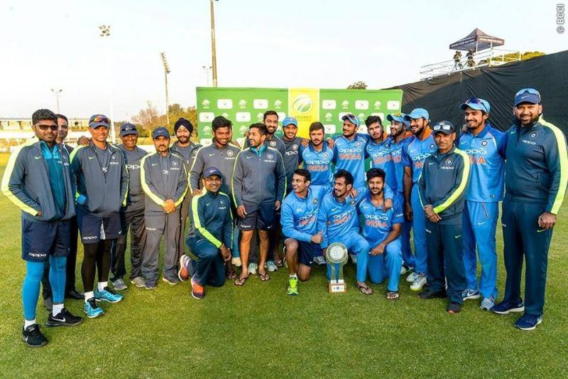 Members of the victorious India A side Image courtesy: BCCI