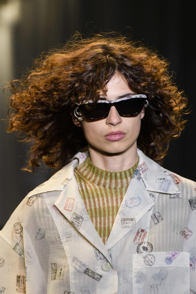 <p><i>Black sunglasses from the SS18 Acne Studios collection. (Photo: ImaxTree) </i></p>