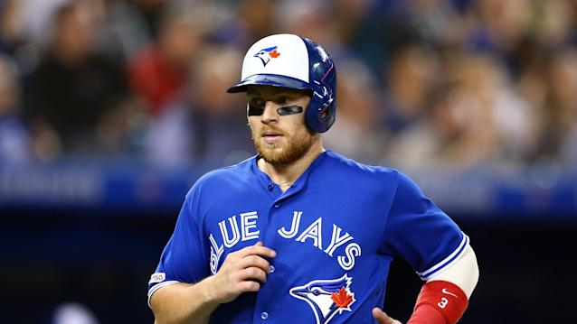 The Toronto Blue Jays utility man has signed a deal before arbitration. (Photo by Vaughn Ridley/Getty Images)