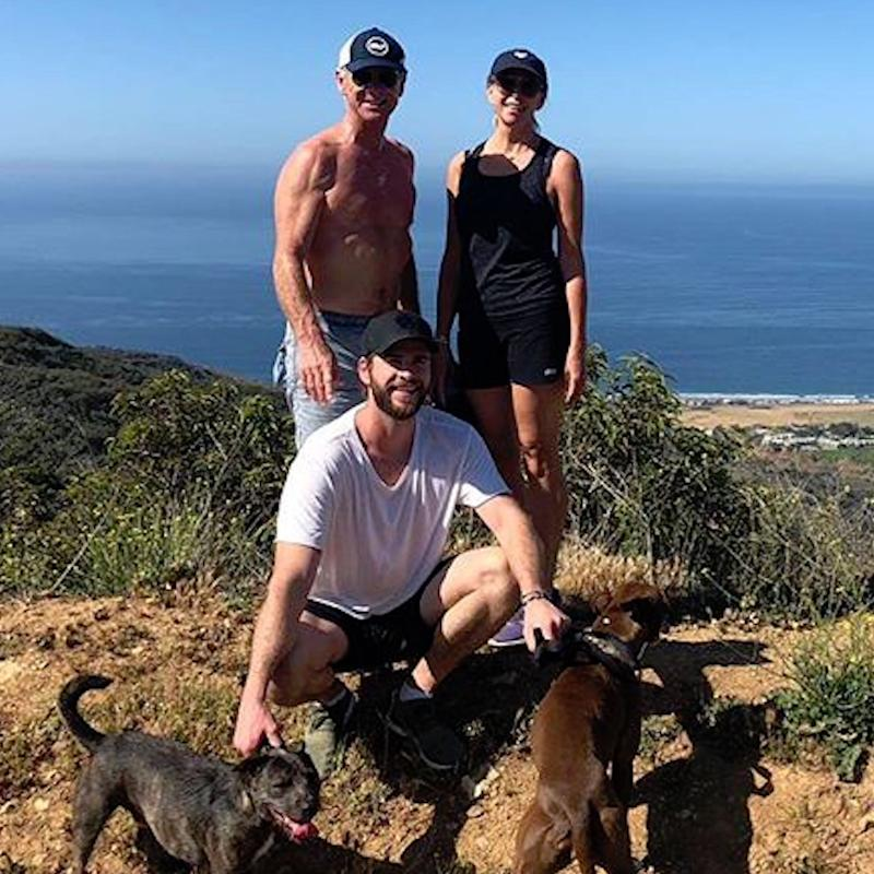Liam Hemsworth Shares a Cute Family Photo, but All Our Attention Is Focused on His Superhot Dad
