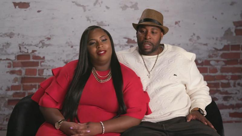 Andrea aand Lamar doing confessional for 'Love After Lockup'
