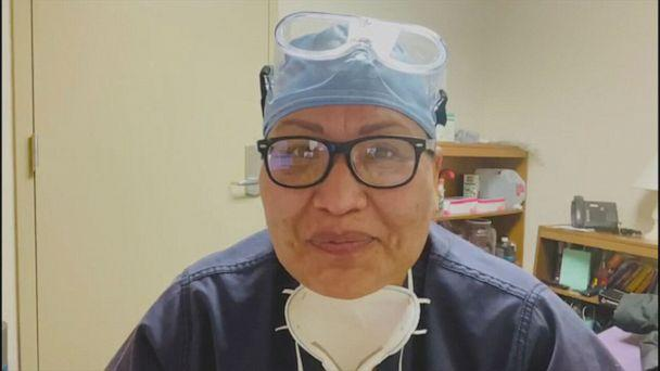 PHOTO: Dr. Michelle Tom, the only Navajo emergency physician at the Winslow Indian Health Care Center in Arizona, got her vaccine this week. (Michelle Tom)