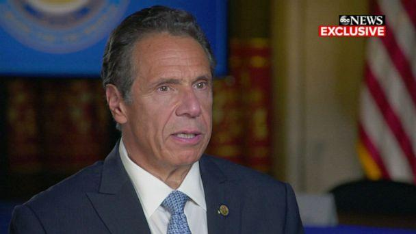 PHOTO: Governor Andrew Cuomo speaks to Amy Robach on 'Good Morning America.' (ABC News)