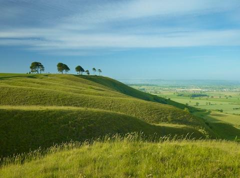 Roundway Down, just outside the town - Credit: GETTY