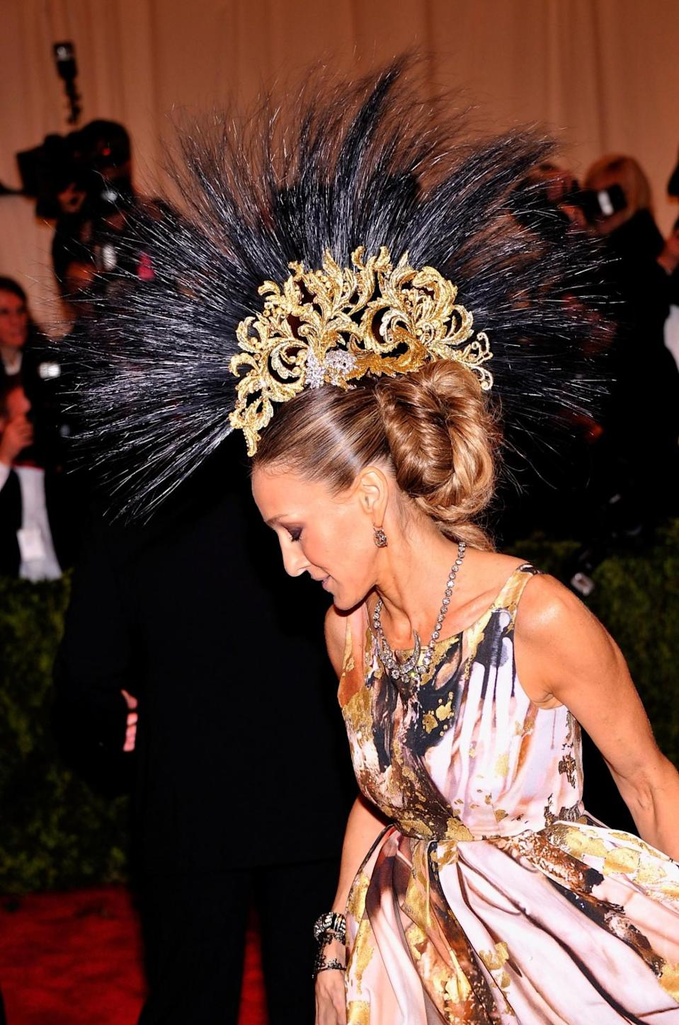 <p>Her 2013 Met Gala getup was perhaps more 'parrot' than 'Punk' but nonetheless stunned. </p>