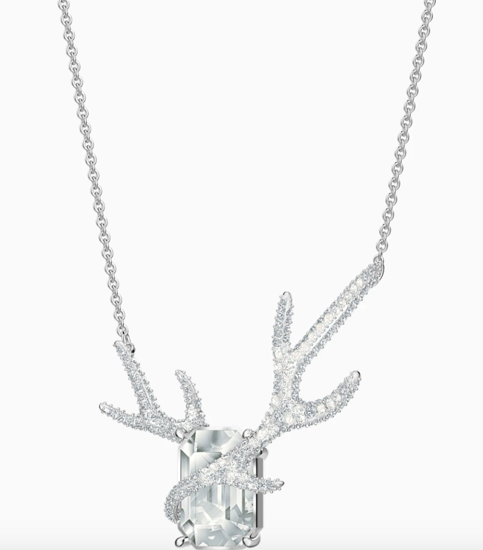 PHOTO: Swarovski. Polar Bestiary Necklace, Multi-Colored, Rhodium Plated