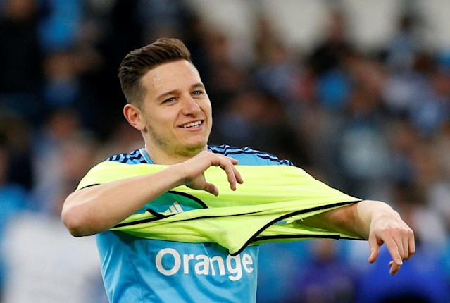 Soccer Football - Ligue 1 - Olympique de Marseille vs Olympique Lyonnais - Orange Velodrome, Marseille, France - March 18, 2018 Marseille's Florian Thauvin before the match REUTERS/Philippe Laurenson