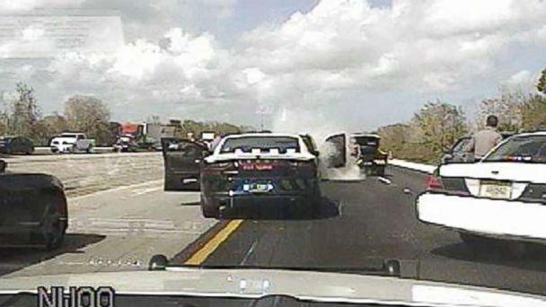 PHOTO: A man called 911 to say his gas pedal was broken as his car barreled down Interstate 95 in Florida at nearly 100 mph, Feb. 12, 2018. (Fellsmere Police Dept.)