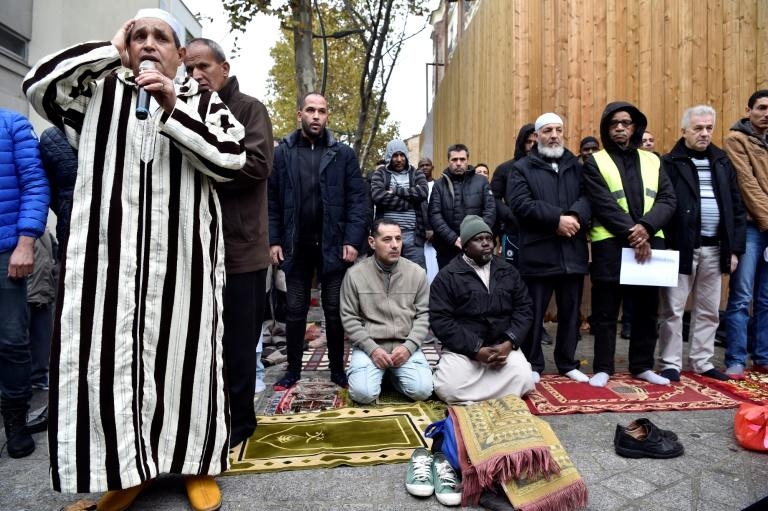 The weekly street prayers in Clichy, just outside Paris, are to protest the closure of a popular mosque by local officials