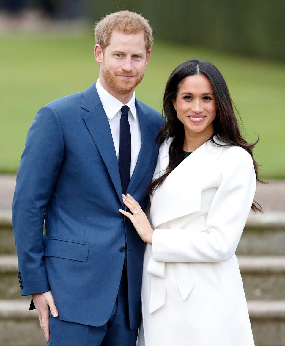 """<p>Harry and Meghan were <a href=""""https://www.marieclaire.com/celebrity/a15880017/prince-harry-meghan-markle-matchmaker-violet-von-westenholz/"""" rel=""""nofollow noopener"""" target=""""_blank"""" data-ylk=""""slk:set up"""" class=""""link rapid-noclick-resp"""">set up</a> by a mutual friend (most likely Violet von Westenholz, a childhood friend of Harry's who works in PR for Ralph Lauren). </p><p>""""It was definitely a set-up. It was a blind date,"""" Markle has said of their first date. """"I didn't know much about him and so the only thing I had asked her when she said she wanted to set us up was...I had one question...I said 'Is he nice?'""""<br></p>"""