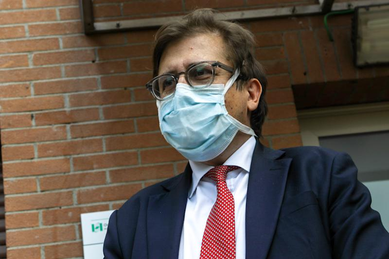 Pierpaolo Sileri at Inauguration of the new intensive care unit at Sacco Hospital in Milan, Italy, May 29 2020. Inauguration of the new intensive care unit at the Sacco Hospital in Milan, where patients suffering from Covid-19 will be taken. (Photo by Mairo Cinquetti/NurPhoto via Getty Images)