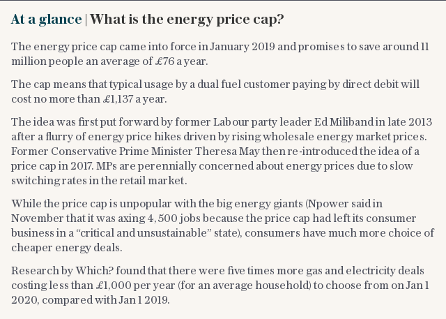 At a glance   What is the energy price cap?