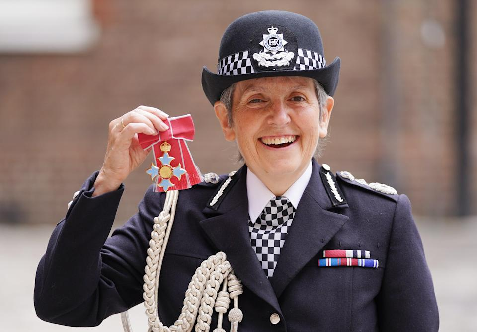Metropolitan Police Commissioner Cressida Dick following an investiture ceremony at St James's Palace in central London, where she was made a Dame Commander of the Order of the British Empire by the Prince of Wales (Kirsty O'Connor/PA) (PA Wire)