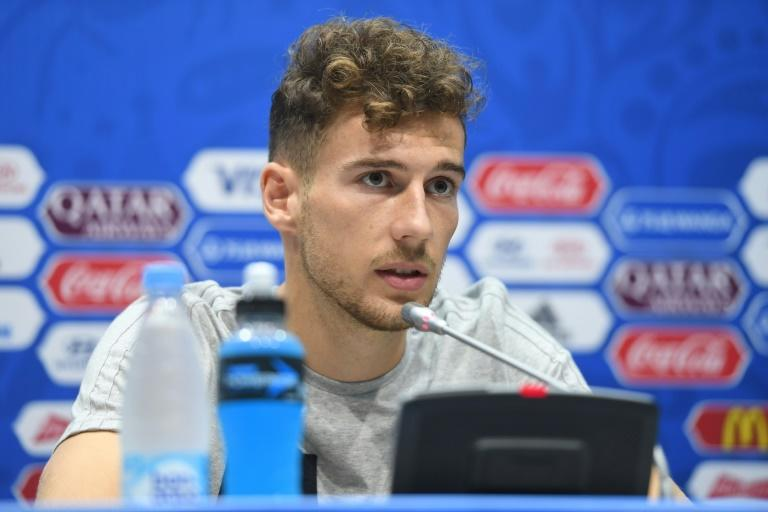 Germany midfielder Leon Goretzka gives a press conference during the Russia 2017 Confederation Cup in Sochi on June 24, 2017