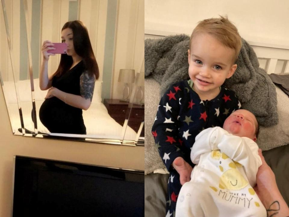 Mum-of-two Sophie Carter has ended her maternity leave early to return to work. (SWNS)