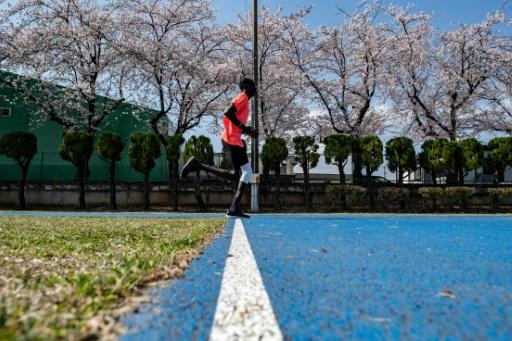 """Loneliness of the middle-distance runner? """"I have not missed home so much because I am staying in a very peaceful environment with very loving people,"""" says South Sudan's 1,500m athlete Abraham Majok Matet Guem, training in Maebashi"""