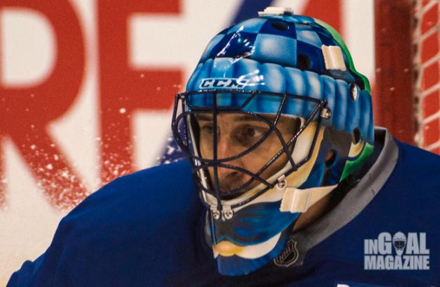 Roberto Luongo To Don Johnny Canuck Themed Movember Mask Complete