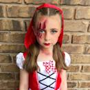 "<p>The wolf may have gotten a swipe in, but he's no match for this Halloween-ified version of Little Red Riding Hood.</p><p><em><a href=""https://www.facebook.com/kellzmakeupandbodyart/"" rel=""nofollow noopener"" target=""_blank"" data-ylk=""slk:See more at Kellz Makeup and Body Art »"" class=""link rapid-noclick-resp"">See more at Kellz Makeup and Body Art »</a></em><br></p>"
