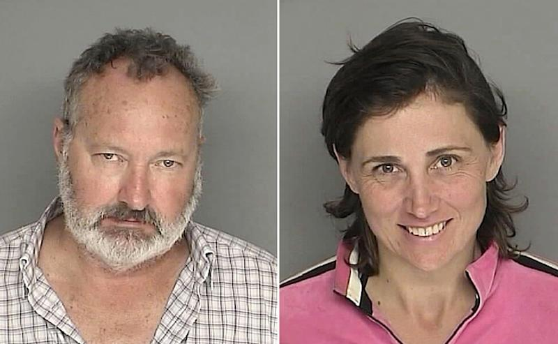 This 2010 Santa Barbara County California Sheriff's Department photo shows Randy Quaid and his wife Evi -- who fled to Canada over alleged illegal squatting in a US home that they used to own in California