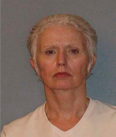 """Booking mug handout of Catherine Greig, longtime girlfriend of former mob boss and fugitive James """"Whitey"""" Bulger"""